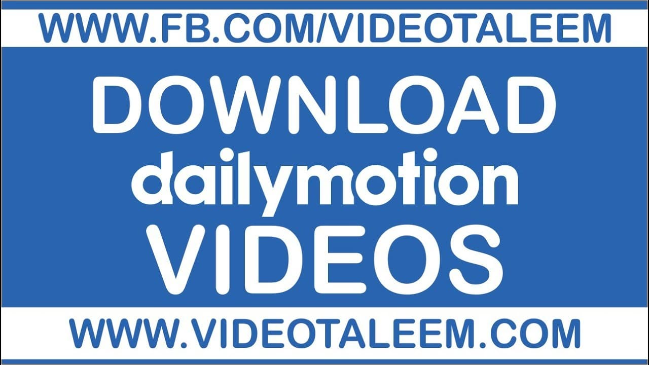 download dailymotion video android