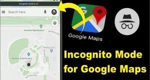 incognito Mode for google maps